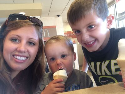 One of our many ice cream pit stops